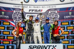 podium race 3 during the 2019 FFSA GT  circuit french championship, from september 12 to 15 at Magny-cours, France - Photo Jean Michel Le Meur / DPPI